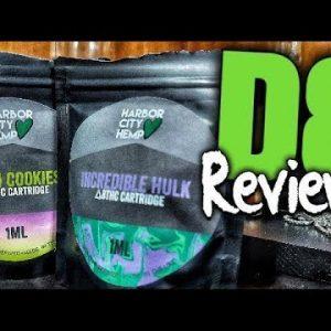 Harbor City Hemp  Incredible Hulk & Chem Cookies Delta 8 THC Cart Review