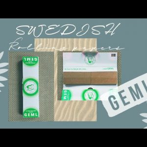 GEML rolling papers review | the FIRST Swedish rolling paper company