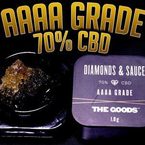 AAAA GRADE DIAMONDS AND SAUCE 70% CBD | TheGoods