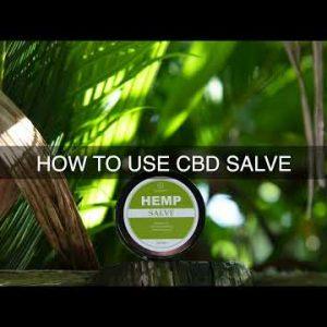 How To Use CBD Salve