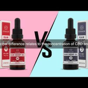 What's The Difference Between 3% And 15% Raw Hemp Oil Drops?