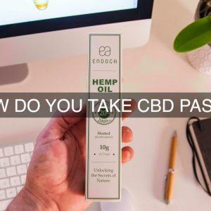 How Do You Take CBD Paste?